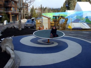 New equipment at the Whistler Accessible Playground