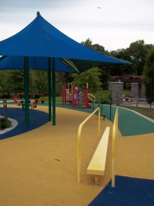 A variety of challenges at inclusive playground