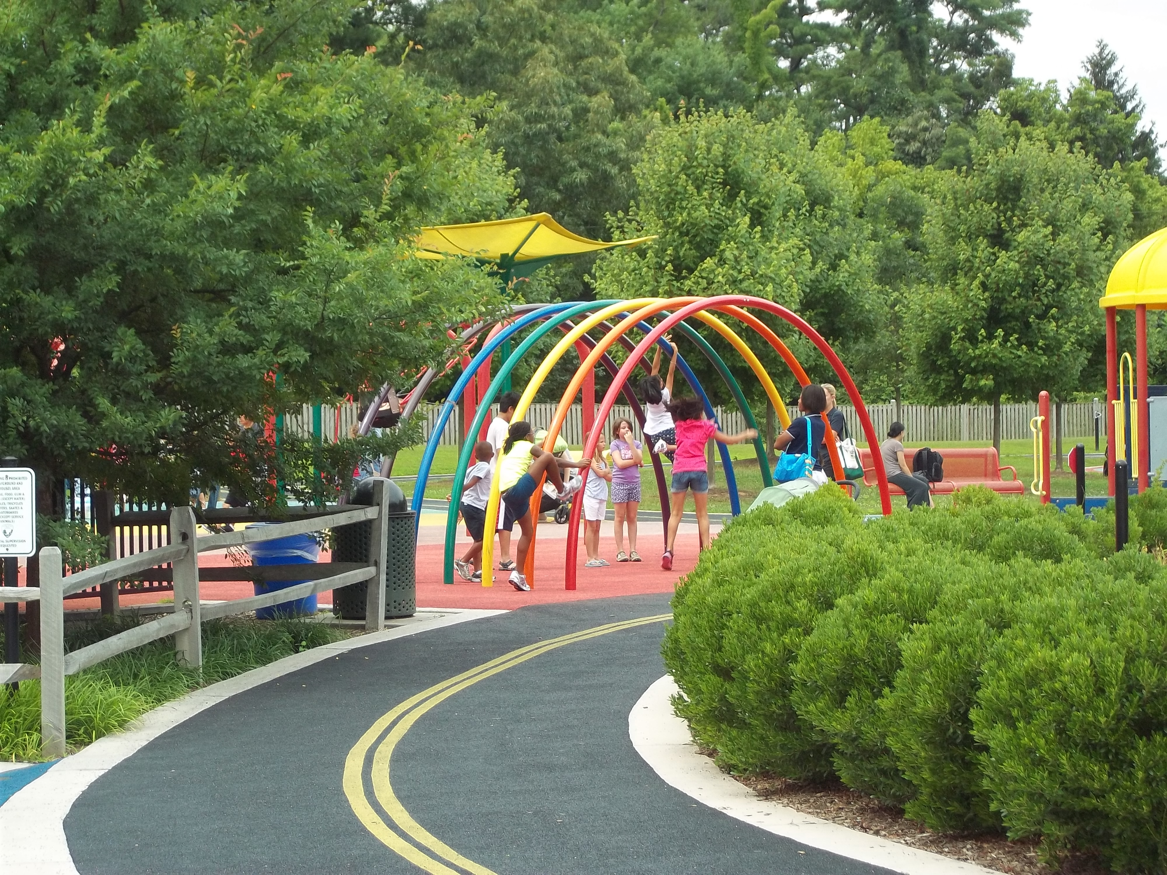 Perimeter Path at inclusive playground