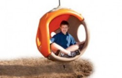 Cozy Cocoon designed to provide support for children with autism at playgrounds.