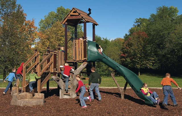 Landscape structures Tree House a part of an inclusive playground