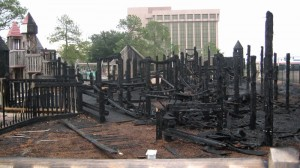 After the fire that burned Shiver Me Timber Playground