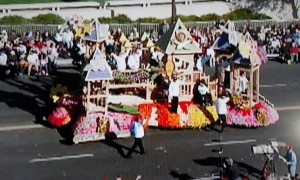 Matteo's Dream (a playground project by Leathers and Associations in CA) won float in the Rose Bowl