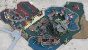 An overhead picture of Shiver Me Timbers an inclusive playground