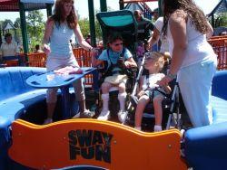 Children using the Sway Fun in Bloomingdale Park