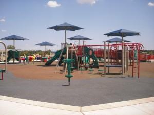 inclusive playground at Lake Hefner
