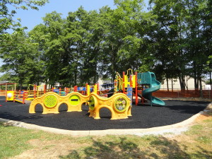 Sensory wall at Maudlin Miracle League playground an inclusive play space