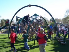 Children playing on Evos Structure