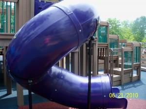 Enclosed slide