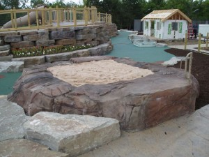 Accessible sand play area