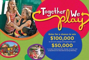 Win $100,000 in inclusive playground equipment