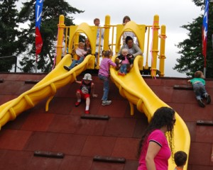 Double slide at Discovery Playground