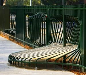 artistic fence around playground