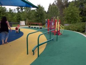 balance beam at inclusive playground
