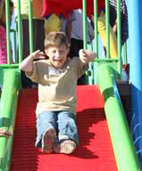 Roller Slide at accessible playground