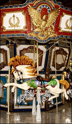 Horse on accessible carousel