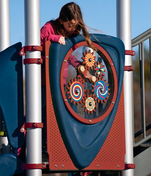Opti Gear Panel on an accessible playground