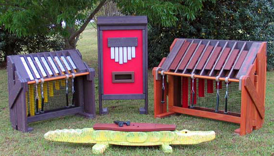 Sound Play's instrument ensemble for inclusive and accessible playgrounds