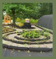 A maze made out of Garden Soxx