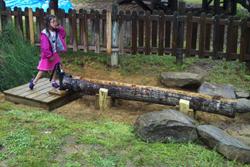 Water sluceway for natural playground