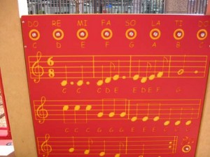 Solar powered music panel allow children with visual impairments to play music