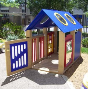 playhouse teaches children with visual impairments about the functions of a house