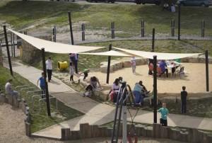 Sand area at adventure playground