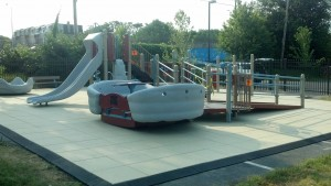 children with and without disabilities enjoy the sway fun at this inclusive playground